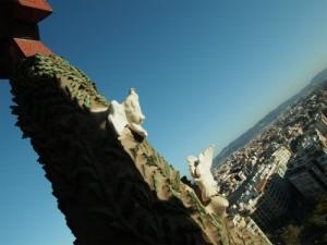 サグラダ・ファミリア塔からの眺め