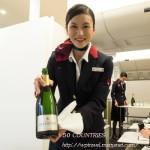 2014年JAL見学会その5-機内での客室乗務員(CA)のお仕事