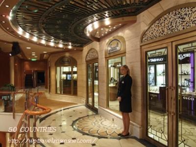ダイヤモンド・プリンセスの免税店