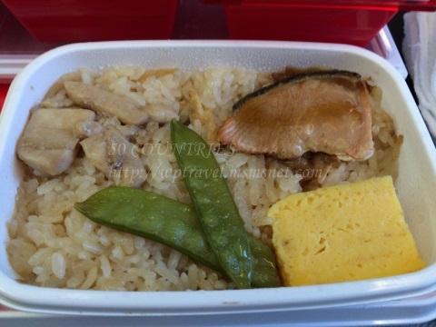 JAL成田-ヘルシンキ線エコノミー機内食