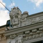 ラトビア-リガ新市街ユーゲントシュティール建築散歩