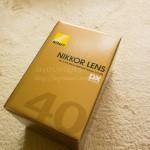 単焦点マイクロレンズAF-S DX Micro NIKKOR 40mm f/2.8Gを購入