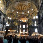 モスクになったアヤソフィア見学とイスタンブール旧市街をぶら歩き