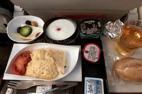 ターキッシュエアラインズ機内食