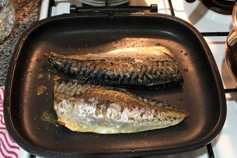 ハッピーコールグルメパンで魚を焼く