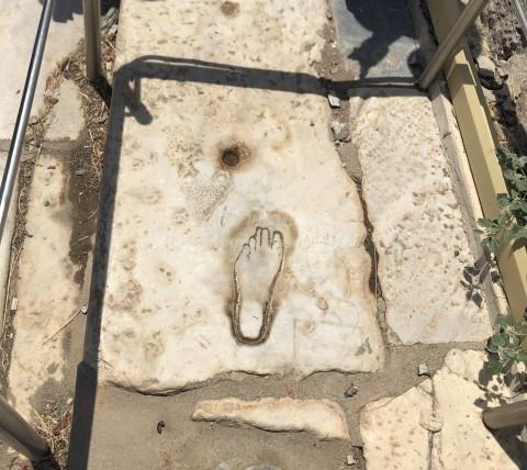 エフェソス遺跡-娼婦宿の広告