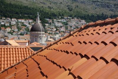 ドゥブロヴニクの城壁からの眺め