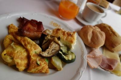 ザグレブのホテルの朝食
